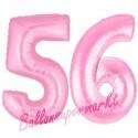 Luftballons aus Folie Zahl 56, Rosa, 100 cm mit Helium zum 56. Geburtstag