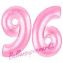 Luftballons aus Folie Zahl 96, Rosa, 100 cm mit Helium zum 96. Geburtstag