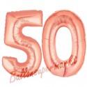 Luftballons aus Folie Zahl 50, Rosegold, 100 cm mit Helium zum 50. Geburtstag