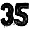 Luftballons aus Folie Zahl 35, Schwarz, 100 cm mit Helium zum 35. Geburtstag