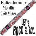 Folienbanner 50er Jahre Party, Let's Rock & Roll