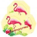 Flamingo Paradise kleine Formteller, Mottoparty Hawaii, Flamingos, Beachparty, 6 Stück