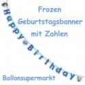 Frozen Geburtstagsgirlande Happy Birthday mit Geburtstagszahlen zum Kindergeburtstag
