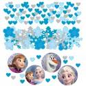 Frozen, Die Eiskönigin - Völlig unverfroren Party Konfetti, 3 Sorten Streudekoration, Partydekoration, Kindergeburtstag