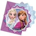 Frozen Northern Lights, Einladungskarten zum Kindergeburtstag, 6 Stück, Eiskönigin, Elsa und Anna