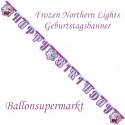 Frozen Northern Lights Geburtstagsgirlande Happy Birthday  zum Kindergeburtstag