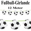 Fußball-Girlande, 12 Meter