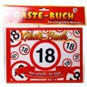 Geburtstags-Gästebuch Verkehrsschild 18 zum 18. Geburtstag