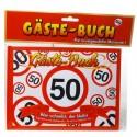 Geburtstags-Gästebuch Verkehrsschild 50 zum 50. Geburtstag