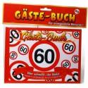 Geburtstags-Gästebuch Verkehrsschild 60 zum 60. Geburtstag
