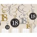 Geburtstag Dekoration Swirls, Sparkling Celebration 18