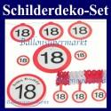Geburtstag 18 Deko-Schilder-Set