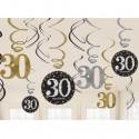 Geburtstag Dekoration, Swirls Sparkling Celebration 30