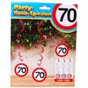 Swirls Verkehrsschild 70, Dekoration zum 70. Geburtstag