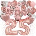 Happy Birthday Dream Rose Gold, Geburtstagsdeko-Set mit Luftballons zum 25. Geburtstag, 42-teilig