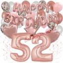 Happy Birthday Dream Rose Gold, Geburtstagsdeko-Set mit Luftballons zum 52. Geburtstag, 42-teilig