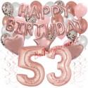 Happy Birthday Dream Rose Gold, Geburtstagsdeko-Set mit Luftballons zum 53. Geburtstag, 42-teilig