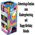 Geburtstags-Fontäne for Kids, kleines Feuerwerk zur Kindergeburtstagsparty, Happy Birthday Melodie