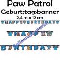 Paw Patrol Geburtstagsgirlande Happy Birthday zum Kindergeburtstag