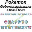 Pokemon Geburtstagsgirlande Happy Birthday zum Pokémon Kindergeburtstag