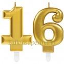 Zahlenkerzen Sparkling Celebration 16, Kerzen zu Geburtstag und Jubiläum