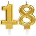 Zahlenkerzen Sparkling Celebration 18, Kerzen zum 18. Geburtstag und Jubiläum