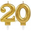 Zahlenkerzen Sparkling Celebration 20, Kerzen zum 20. Geburtstag und Jubiläum