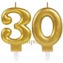 Zahlenkerzen Sparkling Celebration 30, Kerzen zum 30. Geburtstag und Jubiläum
