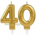 Zahlenkerzen Sparkling Celebration 40, Kerzen zum 40. Geburtstag und Jubiläum