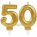 Zahlenkerzen Sparkling Celebration 50, Kerzen zum 50. Geburtstag und Jubiläum