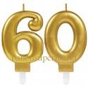 Zahlenkerzen Sparkling Celebration 60, Kerzen zum 60. Geburtstag und Jubiläum