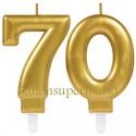 Zahlenkerzen Sparkling Celebration 70, Kerzen zum 70. Geburtstag und Jubiläum