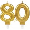 Zahlenkerzen Sparkling Celebration 80, Kerzen zum 80. Geburtstag und Jubiläum