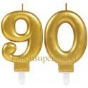 Zahlenkerzen Sparkling Celebration 90, Kerzen zum 90. Geburtstag und Jubiläum