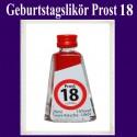 Geburtstagslikör Saure Kirsche zum 18. Geburtstag