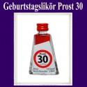 Geburtstagslikör Saure Kirsche zum 30. Geburtstag