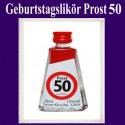Geburtstagslikör Saure Kirsche zum 50. Geburtstag