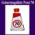 Geburtstagslikör Saure Kirsche zum 70. Geburtstag