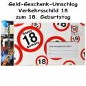 Großer Geld-Geschenk-Umschlag zum 18. Geburtstag