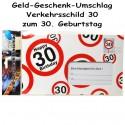 Großer Geld-Geschenk-Umschlag zum 30. Geburtstag
