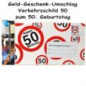Großer Geld-Geschenk-Umschlag zum 50. Geburtstag