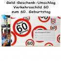 Großer Geld-Geschenk-Umschlag zum 60. Geburtstag
