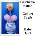 Geschenkballon Geburt Taufe, Baby Girl