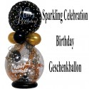 Geschenkballon Sparkling Celebration Happy Birthday