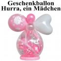 Geschenkballon Hurra, ein Mädchen zu Geburt, Taufe