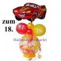 Geschenkballon zum 18. Geburtstag mit Auto