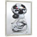 """Geschenkballon zum Geburtstag, """"Fußball"""" Happy Birthday"""