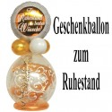 Geschenkballon, Stufferballon, Zum Ruhestand die besten Wünsche