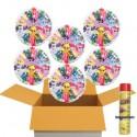 My Little Pony Herzluftballons mit Helium, Kindergeburtstag Geschenke, 6 Stück