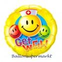 Luftballon Get Well, großer Folienballon mit Ballongas